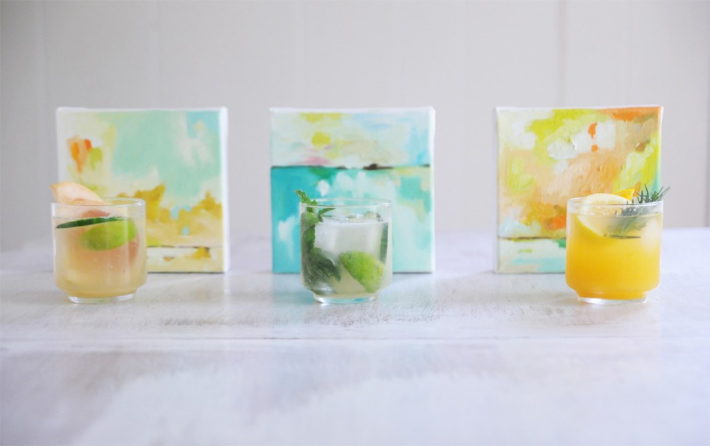 "Skinny ""Mojito"" Lime Fizzy + Oceans 14 by Hillary Butler // FashionableHostess.com"