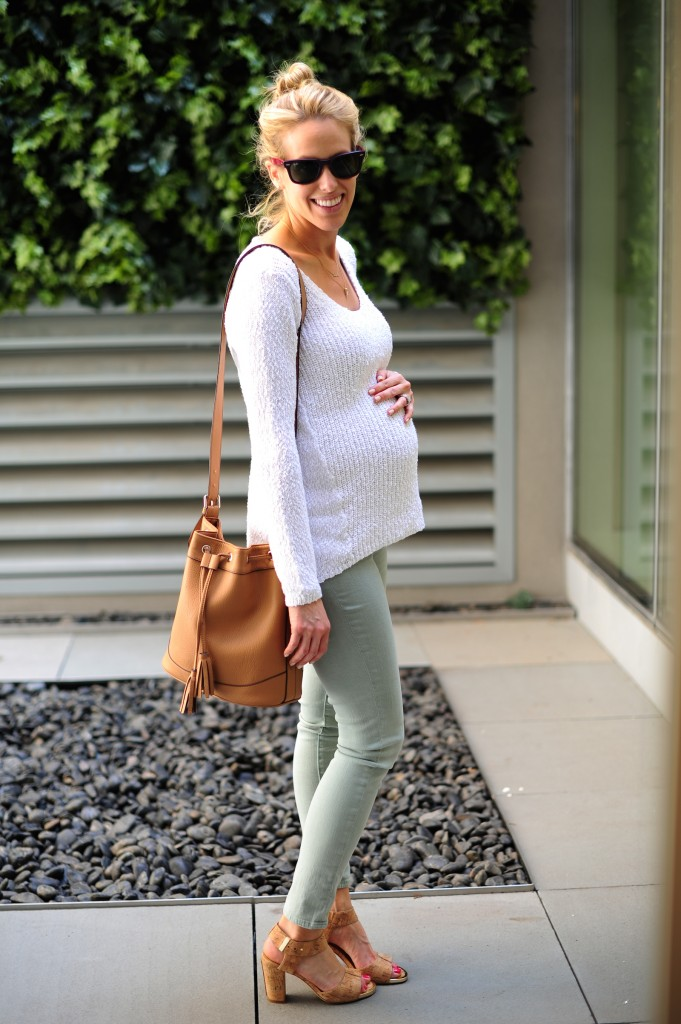 AG Maternity Denim + Elaine Turner Cork Sandals