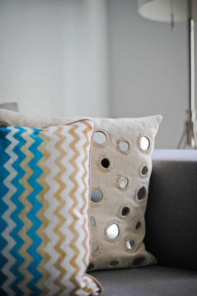 Spring couch Pillows - Chevron Pillows