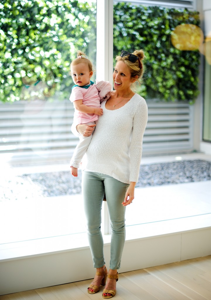 AG mint denim maternity + Juicy Couture Baby