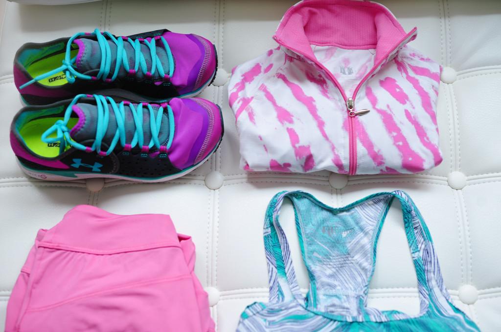 Underarmour pulse sneakers, fitbump tank, EleVen for Venus Pull Over