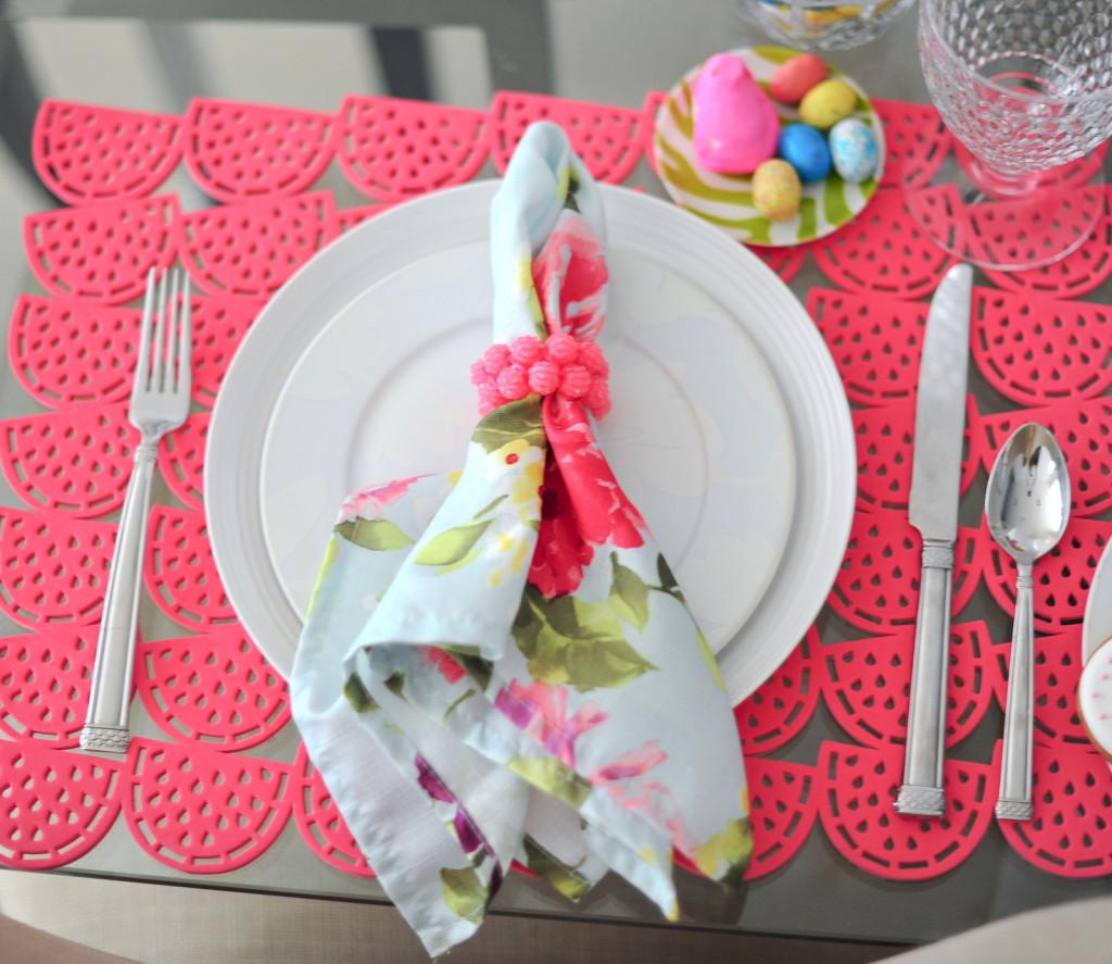 Floral Print Linen Napkins