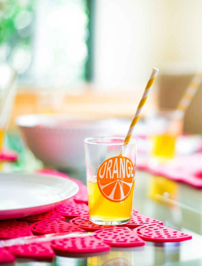 organge juice cup