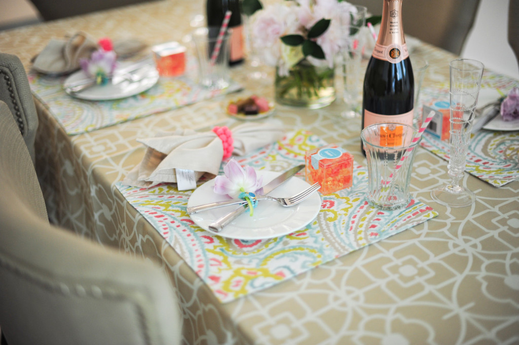 DIY Champagne and Peonies Table Setting