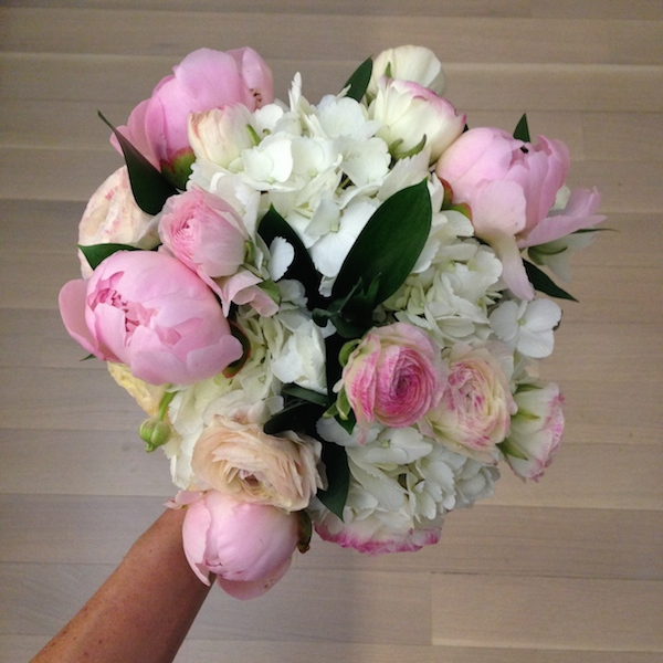 Hydrangeas and Pink Peonies
