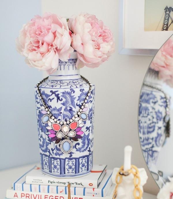 Pink Peonies in Vintage Vase
