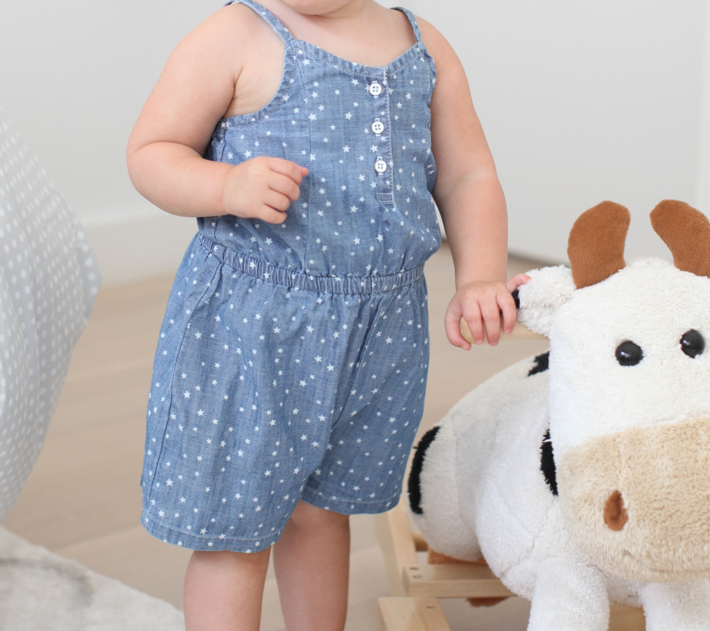 Star-Print Chambray Rompers for Baby
