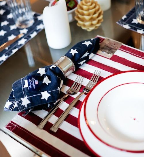 fourth of july placemats and napkins