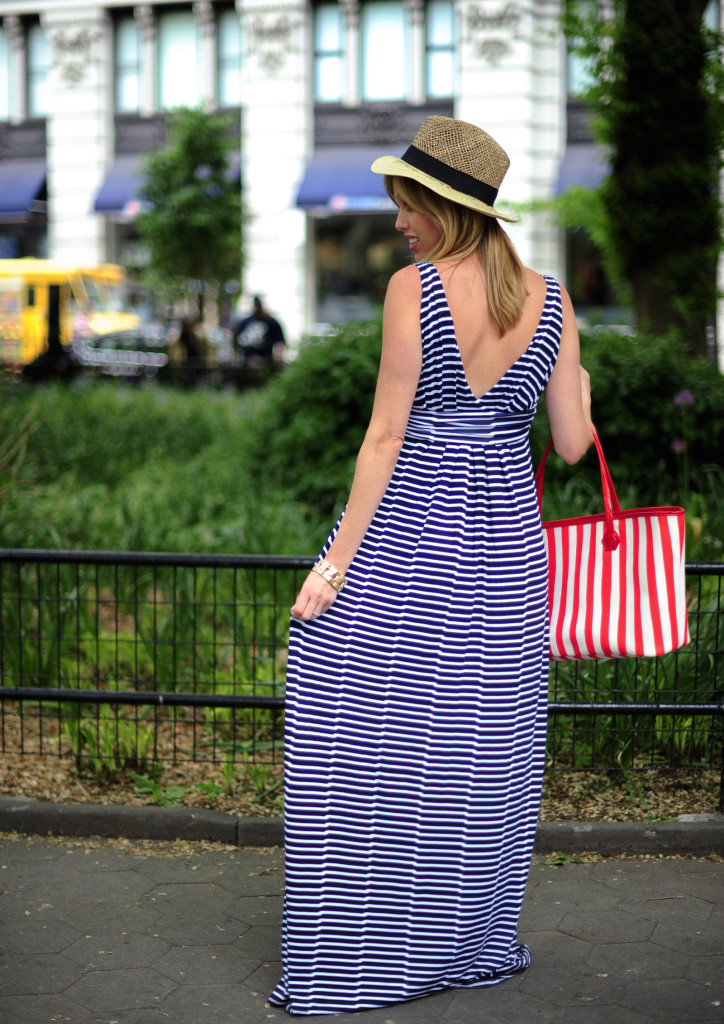 maxi dress with low cut back