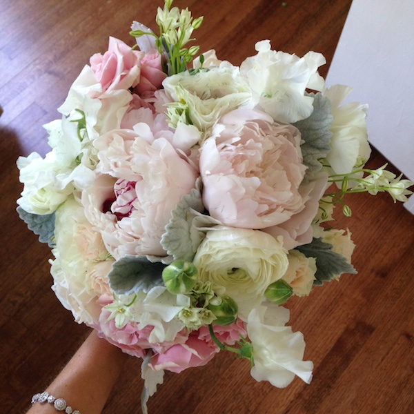 Wedding Arrangements with Peonies