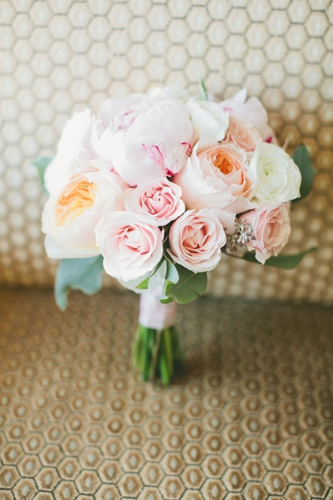 Pink Peony Summer Wedding Bouquet
