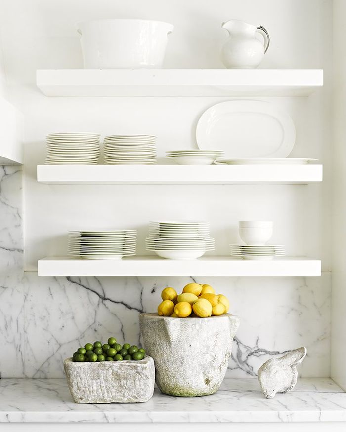 White Kitchen Shelf floating kitchen shelves - fashionable hostess | fashionable hostess