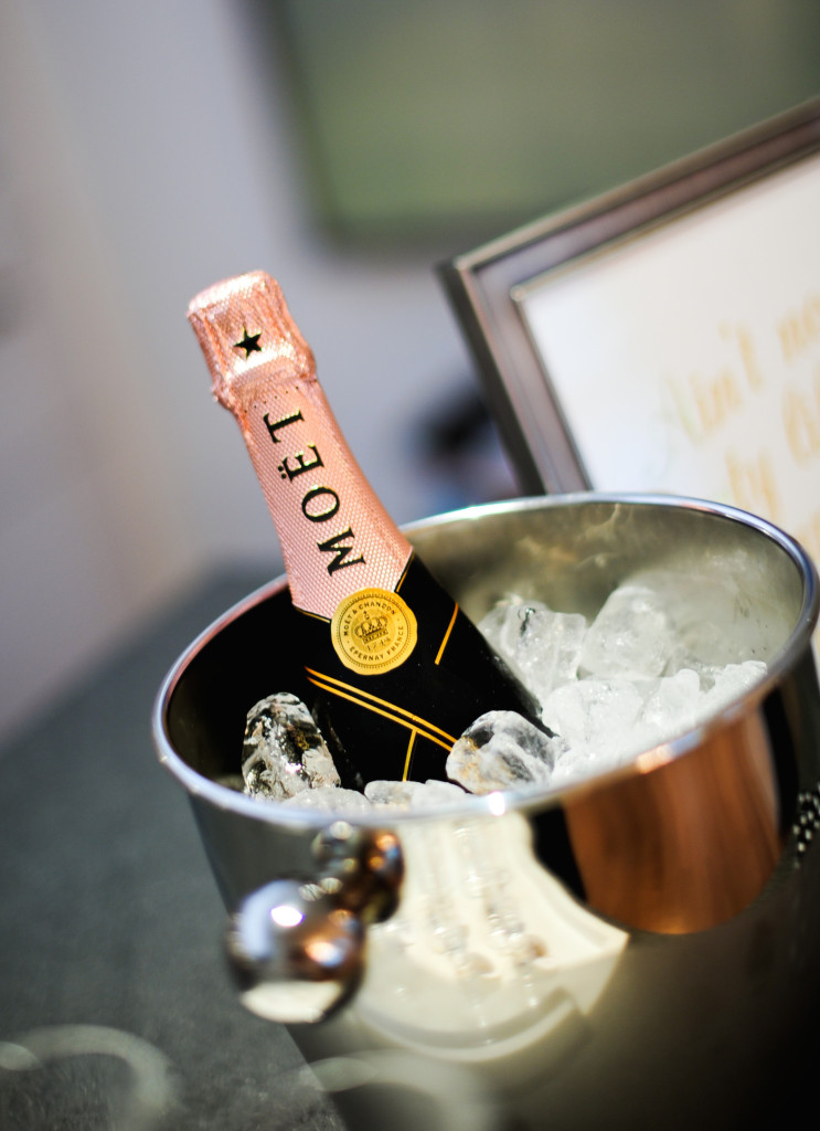 Moet & Chandon Rose Champagne on Ice