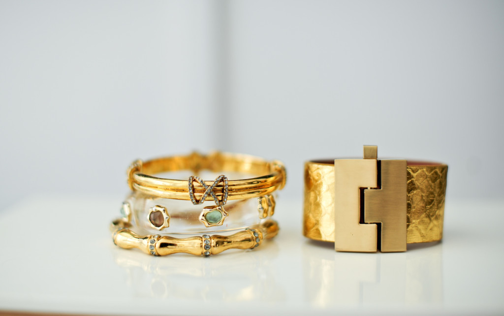 Summer time jewelry trends: Leighelena Cuff, Alexis Bittar Cuff, Elaine Turner Bracelets