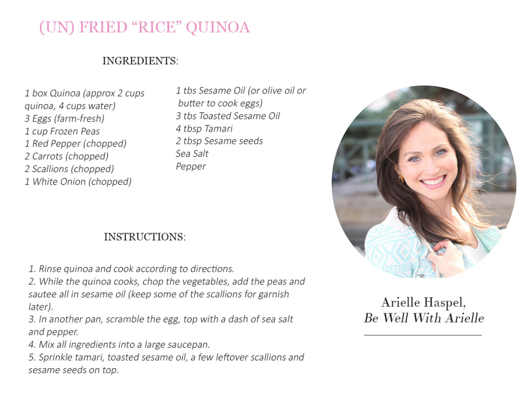 2. Arielle Haspel Recipe