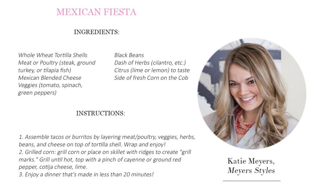 4.  Katie Meyers Recipe
