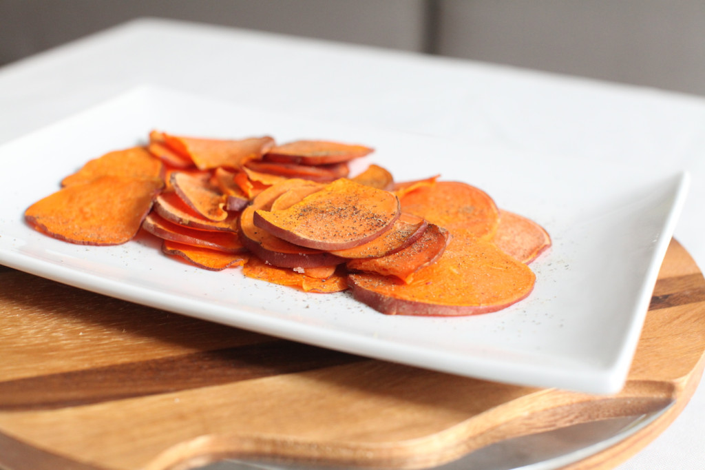 Sweet Potato Chips with coconut oil