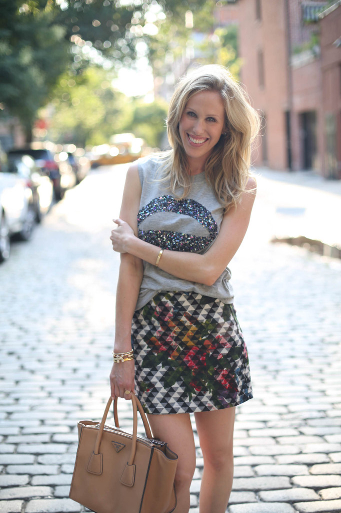 Amanda Gluck of Fashionable Hostess with her NYFW Fashion Week Street Style and fashion week outfit