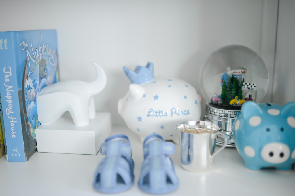 Blue and White Piggy Banks