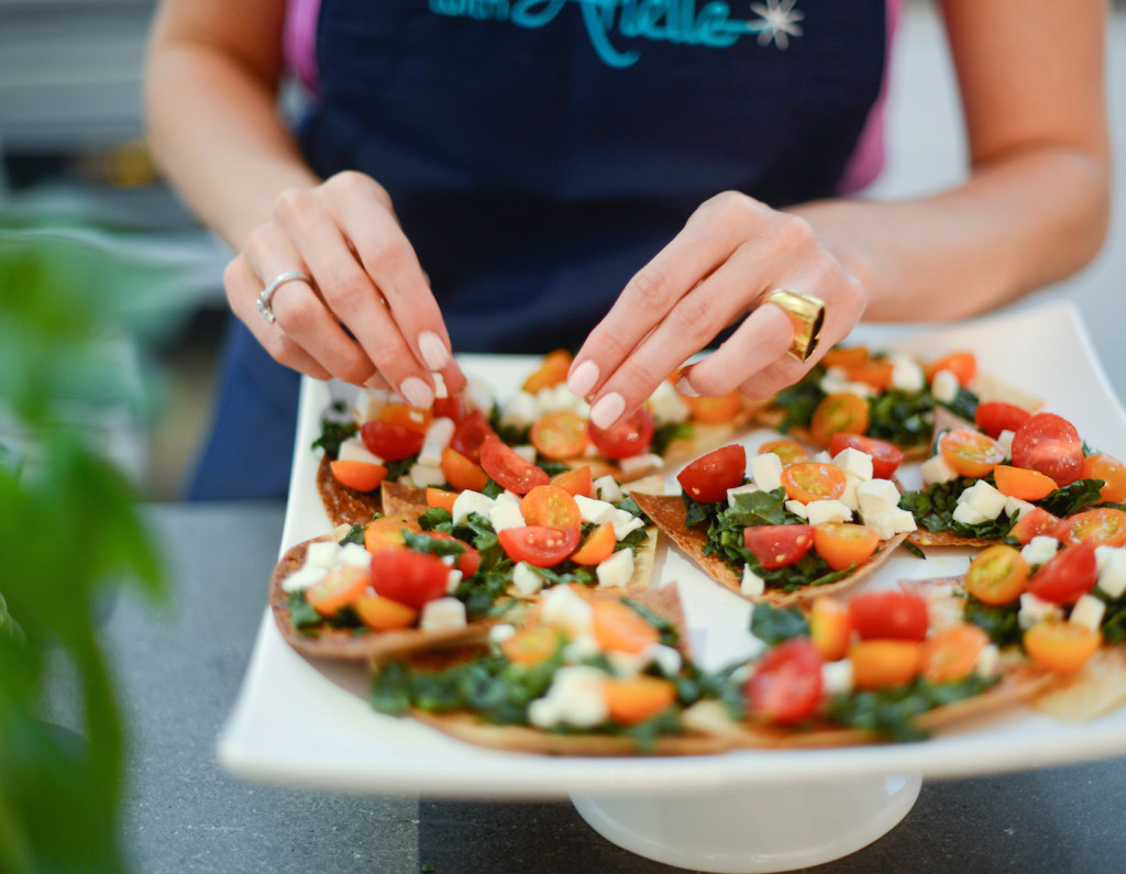Kale Tomato and Feta Healthy Appetizer by Be WellwithArielle.com