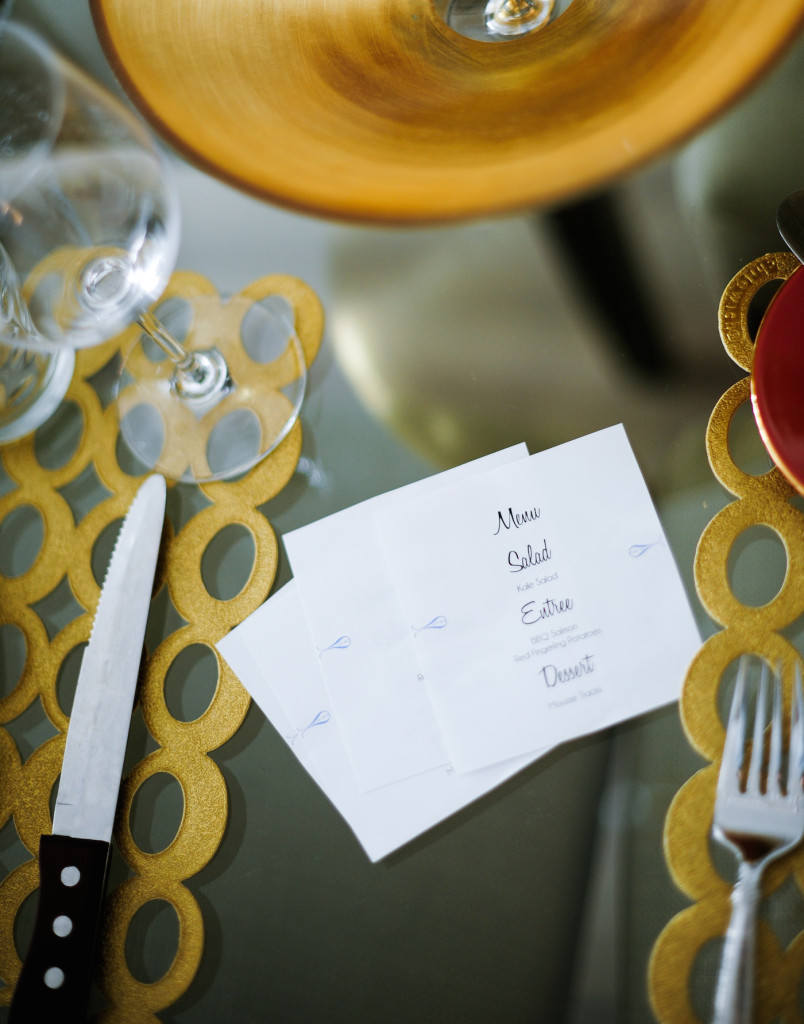 Homemade Menu Cards DIY idea