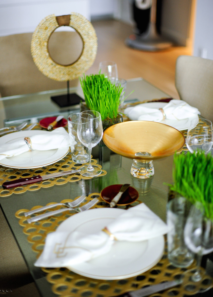 Fall Gold Mod Table with Chilewich Placemats