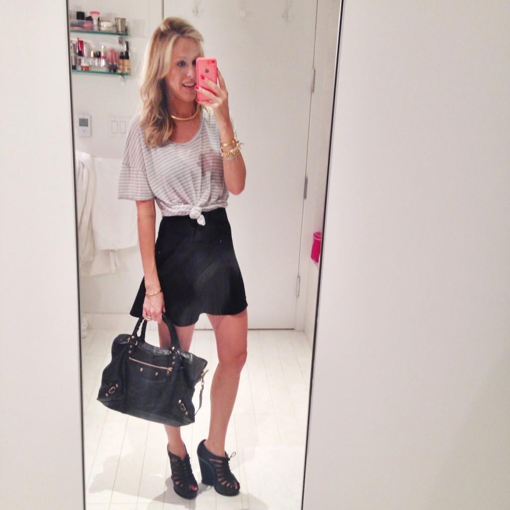 NYFW Outfit Recap Look 3: Topshop, Eberjey and Balenciaga