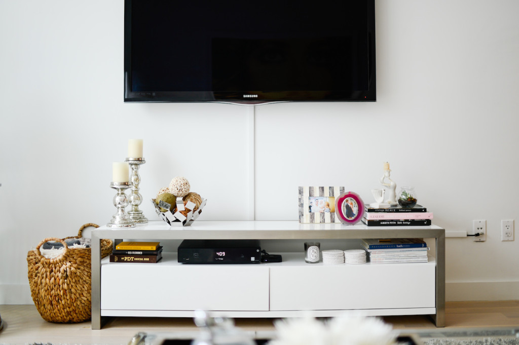 ABC Home White TV Stand