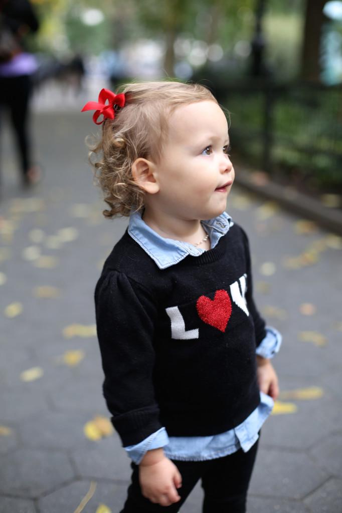 Baby Gluck in OldNavy Sweater #oldnavystyle
