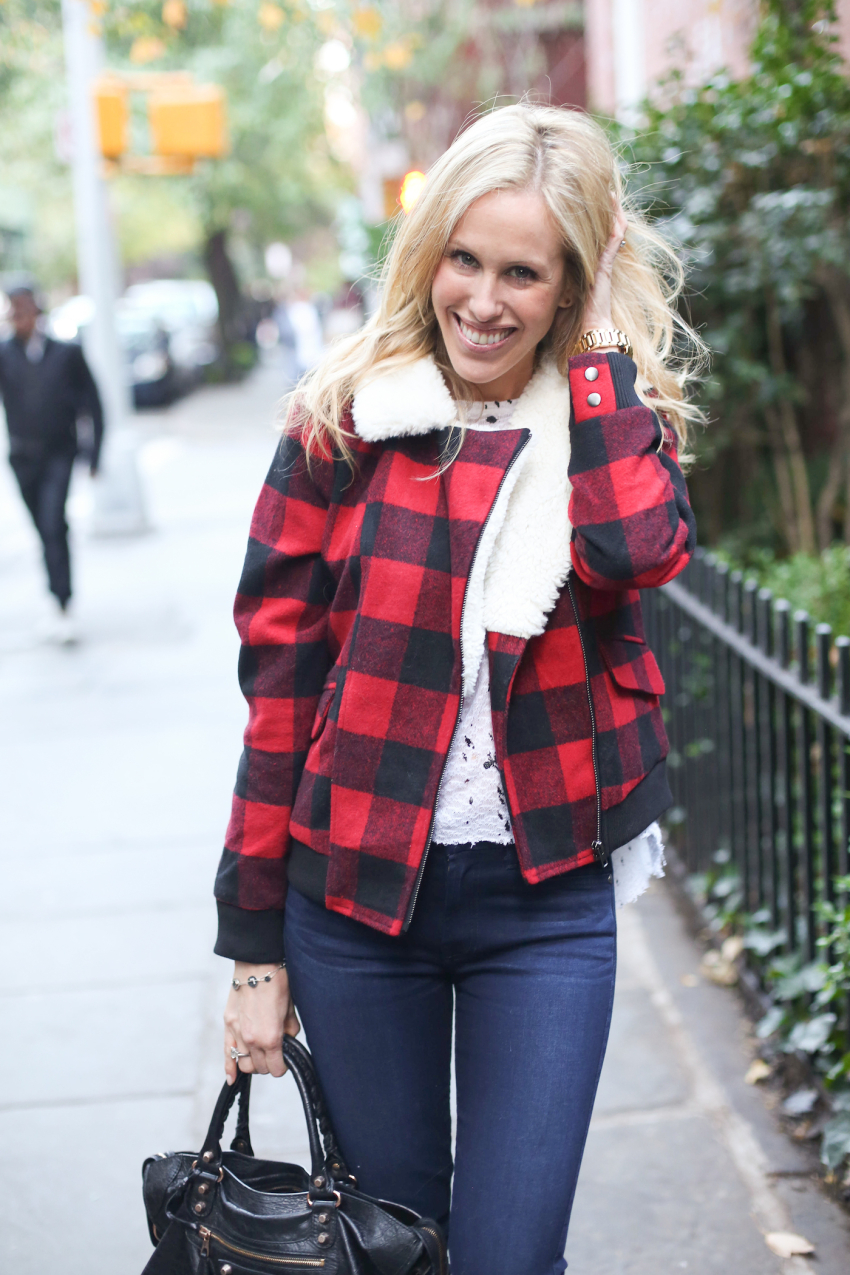 Plaid Bomber Jacket from Pim + Larkin