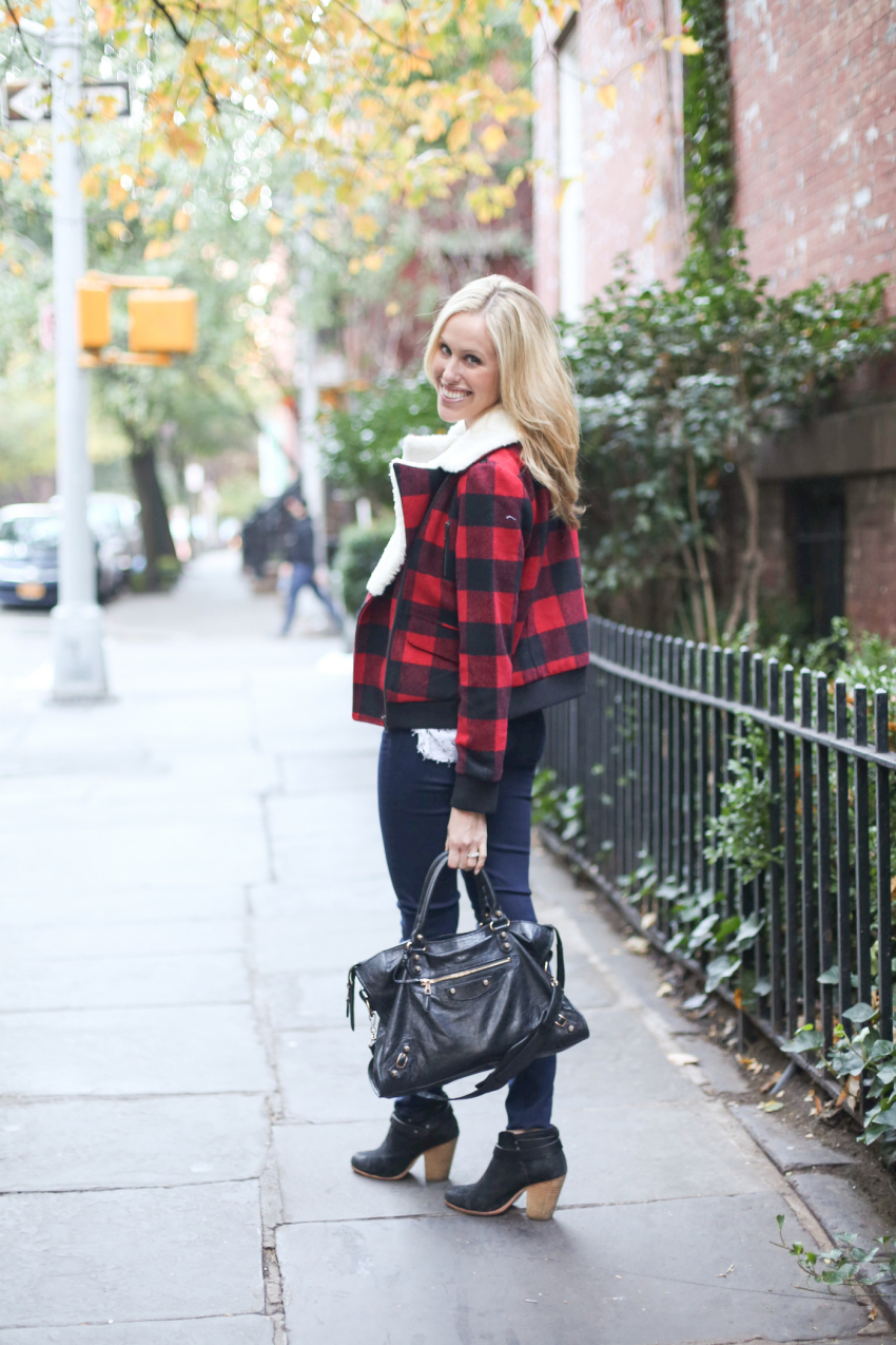Pim + Larkin plaid jacket