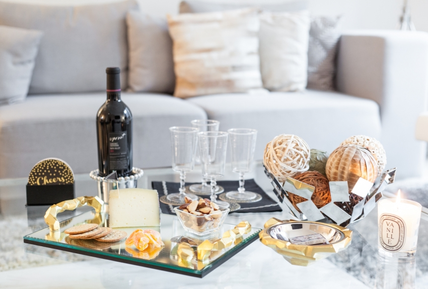Host a Winter wine and cheese night by Fashionable Hostess