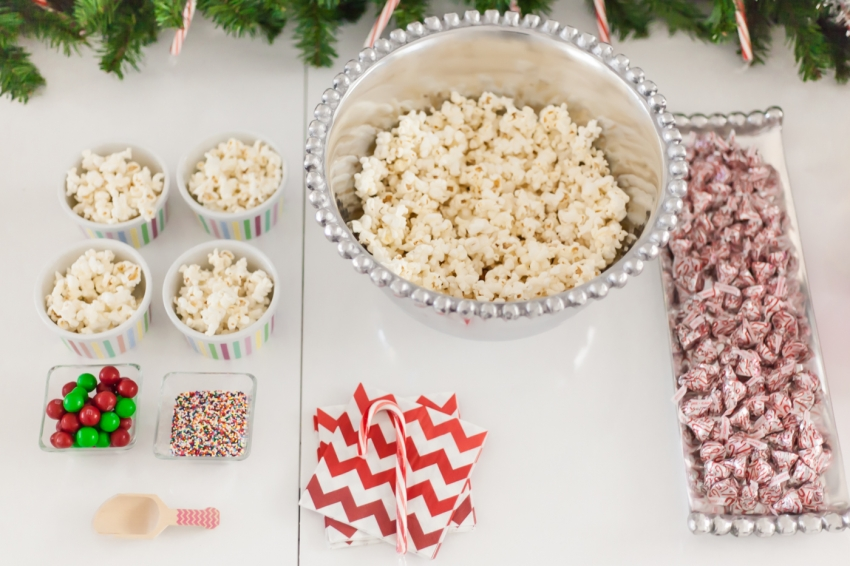 DIY Popcorn Toppings Dessert Bar by Fashionable Hostess