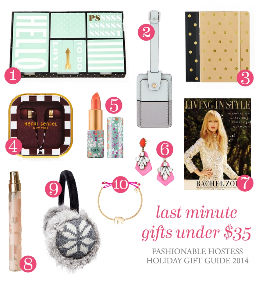 Holiday Hostess - Gift Guide - Last Minute Gifts