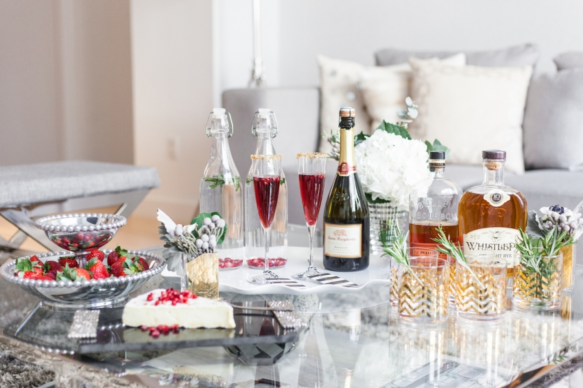 Host Christmas Cocktails with Holiday Appetizers and Spirits - by Fashionable Hostess