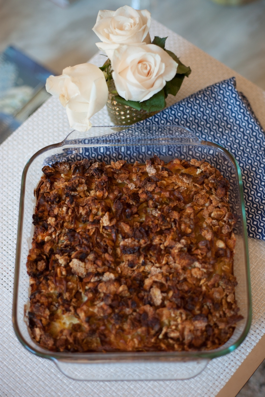Low Fat Noodle Kugel Recipe for Channukah by Fashionable Hostess