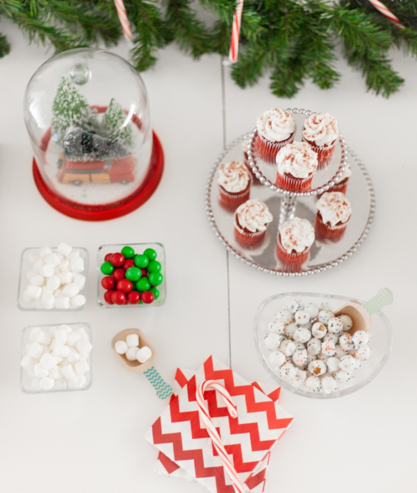 Red and White Chevron Napkins