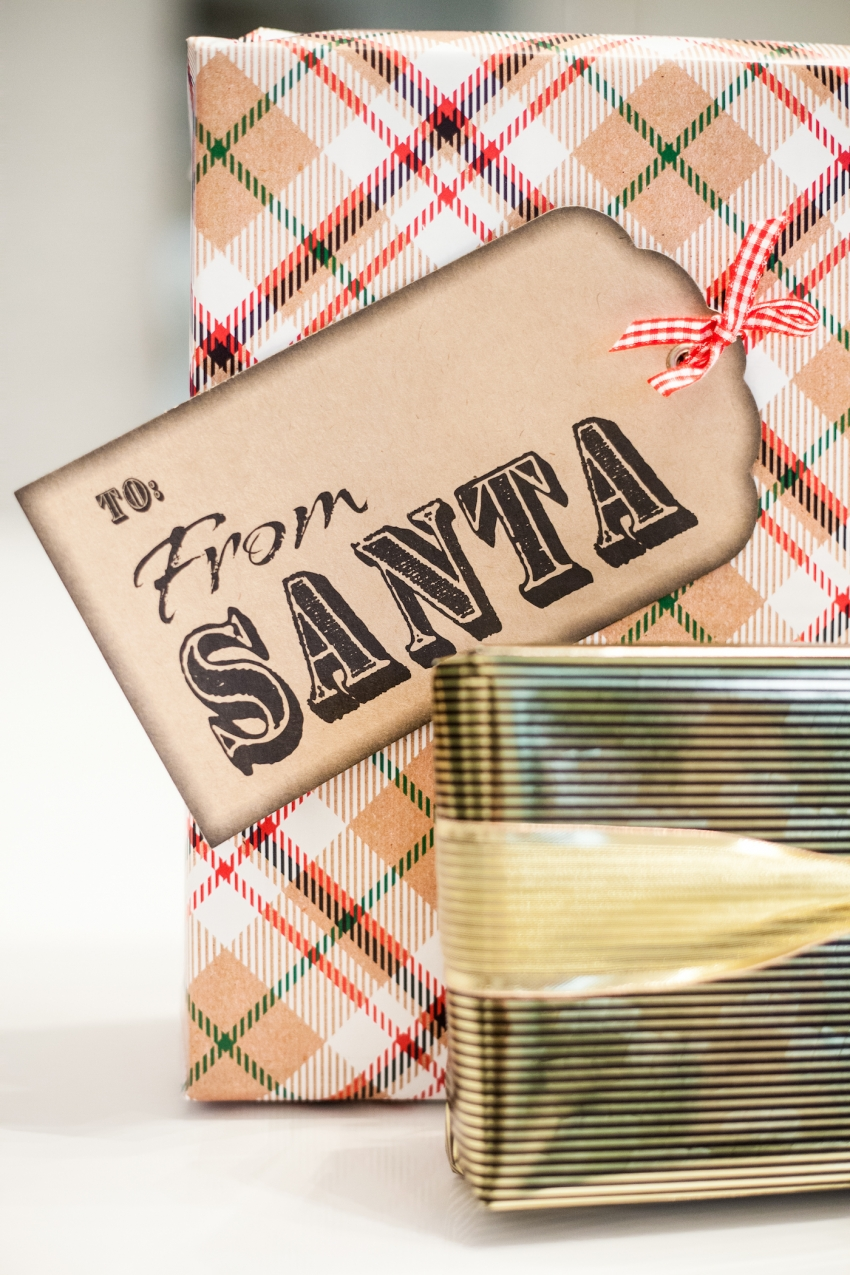 cutest santa gift tags for christmas