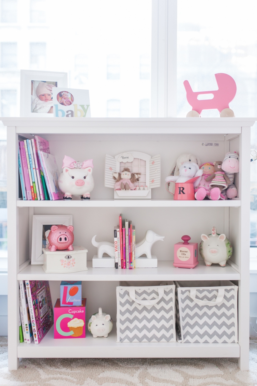 Baby Girl Nursery Decor Reese Gluck and Her nursery shelves Baby Girl Nursery Decor Inspiration by  Fashionable Hostess3