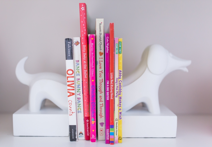 Baby Nursery Bookshelves - dog bookends by Jonathan Adler