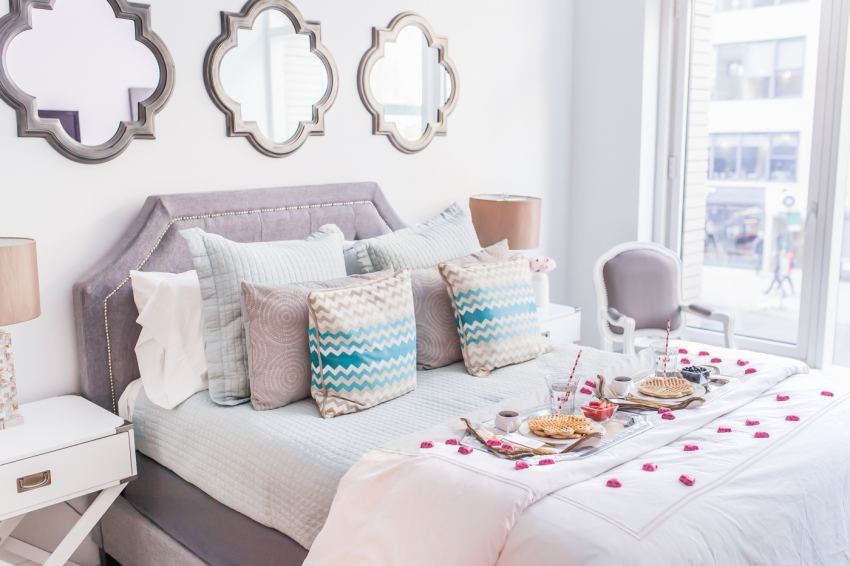 Fashionable Hostess bedroom for Valentines Day