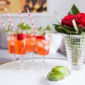 Strawberry Gin Mojito the perfect Valentine's Day Cocktail