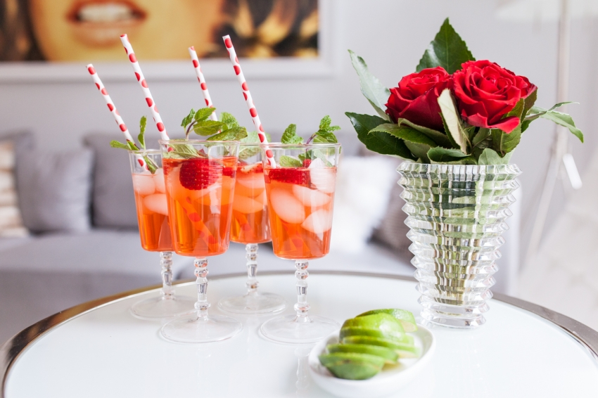 Strawberry Gin Mojito the perfect Valentine's Day Cocktail