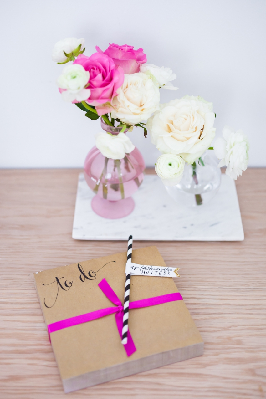 Todo notepad from Marshalls and pink roses