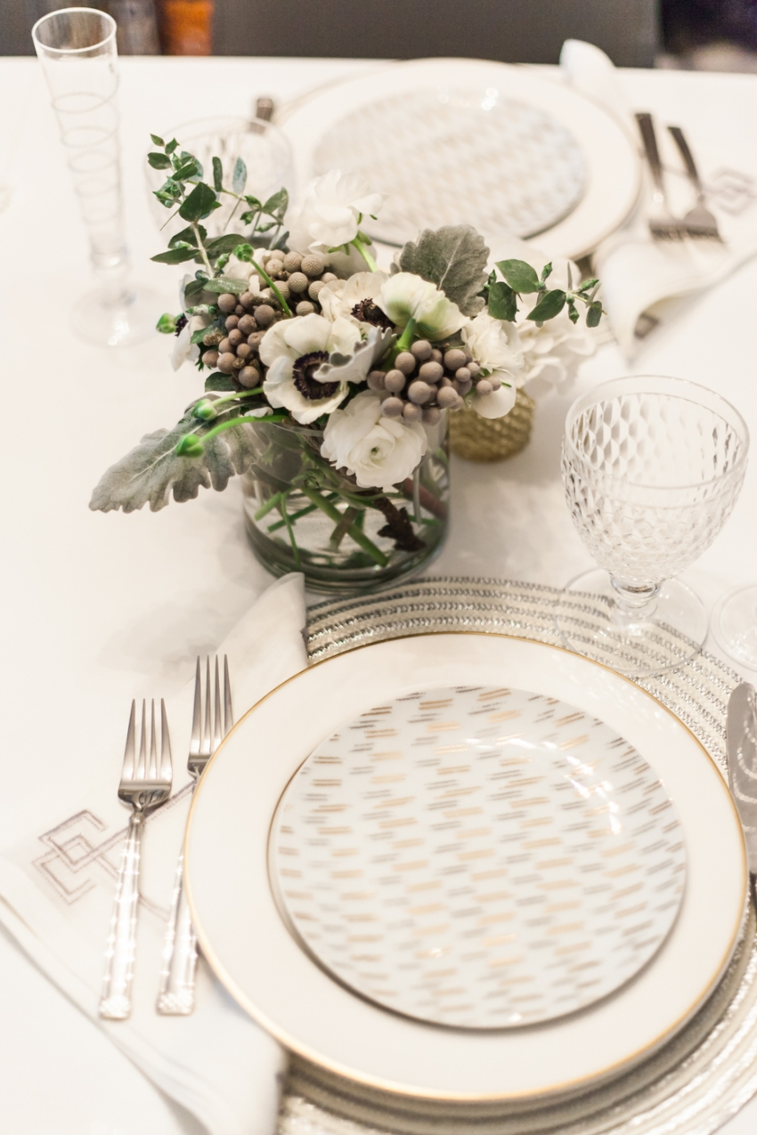 West Elm Salad Plates, Gold and White plates