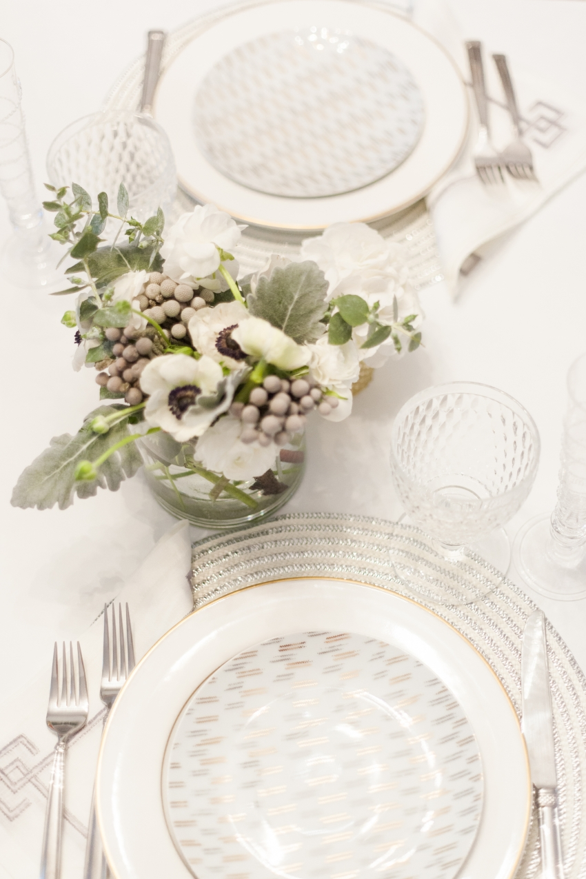 White floral arrangements - winter wedding floral inspirations