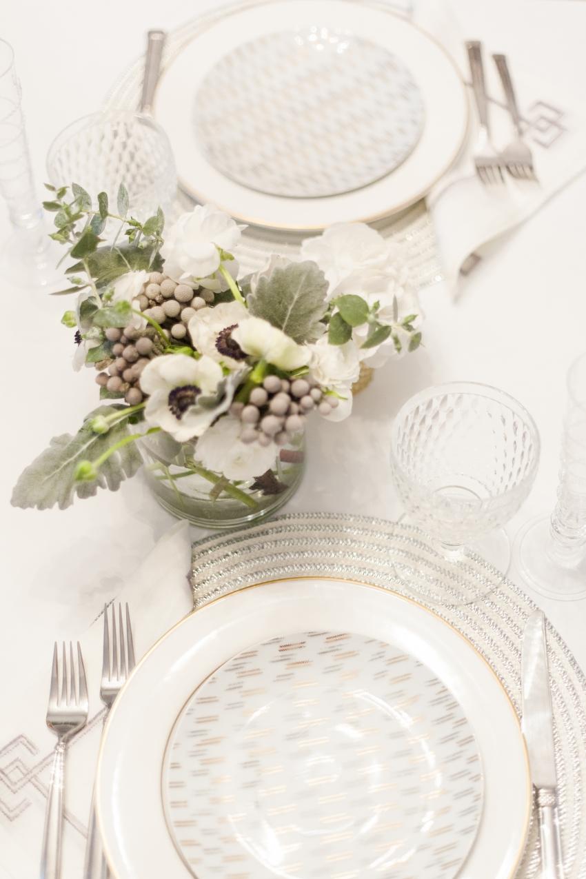 White floral arrangements - winter wedding floral inspirations