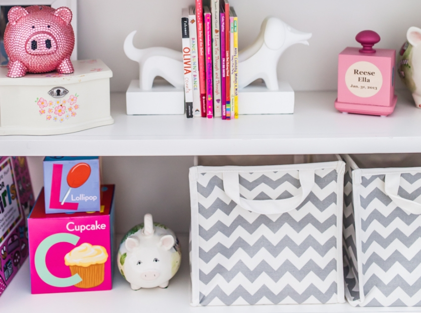 chevron mesh boxes from Pottery Barn Kids