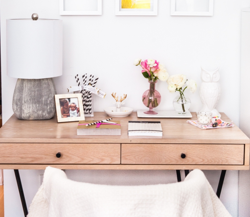 girly desk ideas