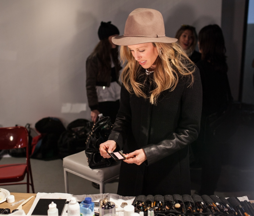 Amanda Gluck - Backstage Beauty Recap from NYFW15 on FashionableHostess.com